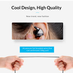 Orico In-ear Soundplus headset - headphones / earphones with microphone and control button - Stereo surround sound - 3.5mm jack - Braided aluminum wire - High audio resolution - Incl. Extra silicone caps - Length 1.25M - Gray / black