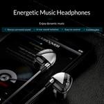 Orico In-Ear-Soundplus-Headset - Kopfhörer / Kopfhörer mit Mikrofon und Steuertaste - Stereo-Surround-Sound - 3,5-mm-Buchse - Geflochtenes Aluminiumkabel - Hohe Audioauflösung - Inkl. Zusätzliche Silikonkappen - Länge 1,25 m - Grau / Schwarz