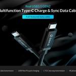 Orico USB Type-C naar Type-C 3.1 Gen2 oplaadkabel