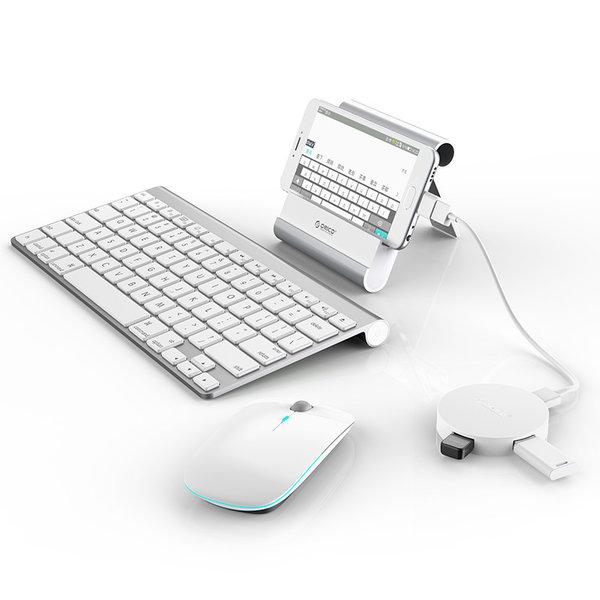 Orico Hub USB 3.0 rond avec 4 ports USB 3.0 - Fonction OTG - Blanc