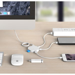 Orico Ronde USB 3.0 hub met 4 USB 3.0 poorten - OTG-functie- Wit