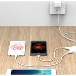 Orico Round USB 3.0 hub with 4 USB 3.0 ports - OTG function - White