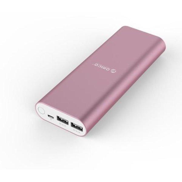 Orico Banque d'alimentation en aluminium 20000mAh - 2 ports de charge USB Smart Charge - Rose