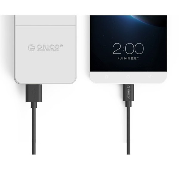 USB-A zu USB-C Ladekabel 2.4A - 15 cm - Schwarz