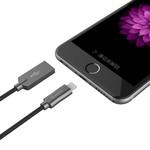 USB-A zu Lightning Ladekabel - 2.4A - 15cm - Schwarz