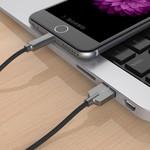 USB-A naar Lightning laadkabel - 2.4A - 15cm - Zwart