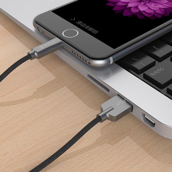 USB-A-zu-Lightning-Ladekabel - 2,4 A - 15 cm - Schwarz