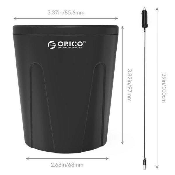 Orico Autolader sigarettenpoort splitter met 3 USB-laadpoorten - 36W - Zwart