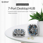 Transparent USB 3.0 hub - 7 ports