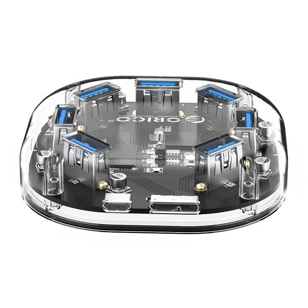 Hub USB 3.0 transparent - 7 ports