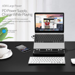 Support Orico Hub / ordinateur portable avec ports USB 3.0, 4K HDMI et USB-C PD - Blanc