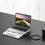 Orico Hub / Laptop-Ständer mit USB 3.0-Anschlüssen, 4K HDMI und USB-C PD - Weiß
