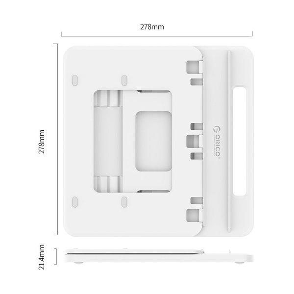 Orico Hub / laptopstand met USB 3.0 poorten, 4K HDMI en USB-C PD - Wit