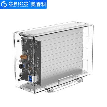 "Orico Dual bay behuizing transparant voor 2x 3.5"" schijf"