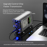 """Orico Dual-Bay-Festplattengehäuse transparent für 2x 3,5 """"-Laufwerk"""