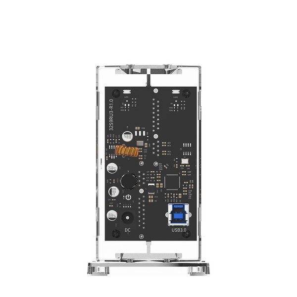 """Orico Dual bay HDD housing transparent for 2x 3.5 """"drive"""