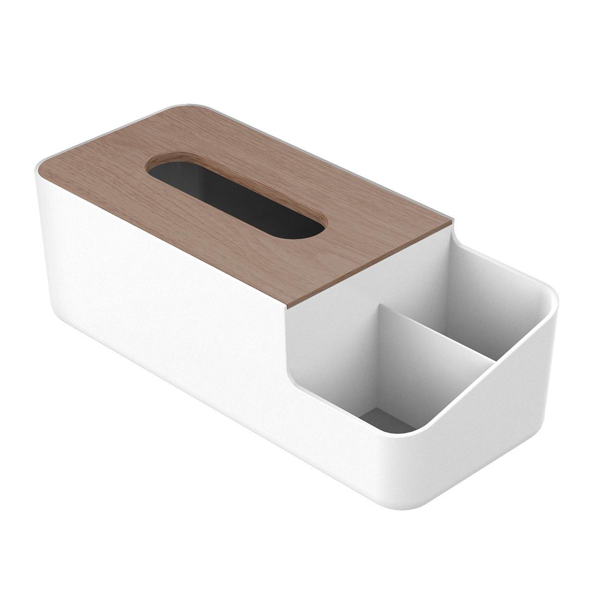 Nieuw Multifunctionele tissue box houder met opberg vakken - Orico ZZ-34