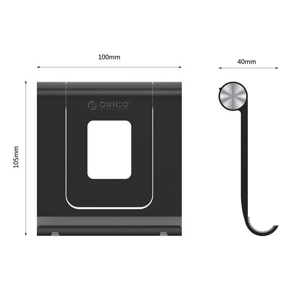 Orico Smartphone und Tablet stehen für auf dem Schreibtisch - 360 Grad drehbar - weiß / schwarz