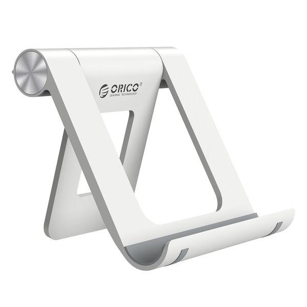 Orico Support pour smartphone et tablette sur le bureau - rotatif à 360 degrés - blanc / noir