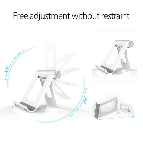 Orico Smartphone and tablet stand for on the desk - 360 degrees rotatable - white / black