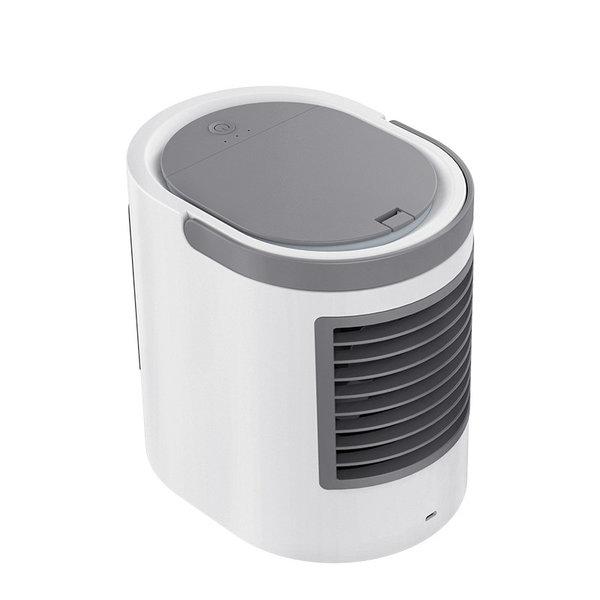 USB dekstop ventilator / bevochtiger - 380ml reservoir - LED-verlichting