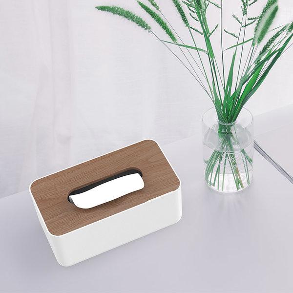 Orico Porte-boîte à mouchoirs aspect bois
