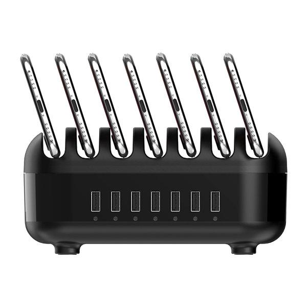 Orico Dockingstation mit mehreren Ladegeräten 70 W USB-Ladestation mit 7 Anschlüssen - Schwarz