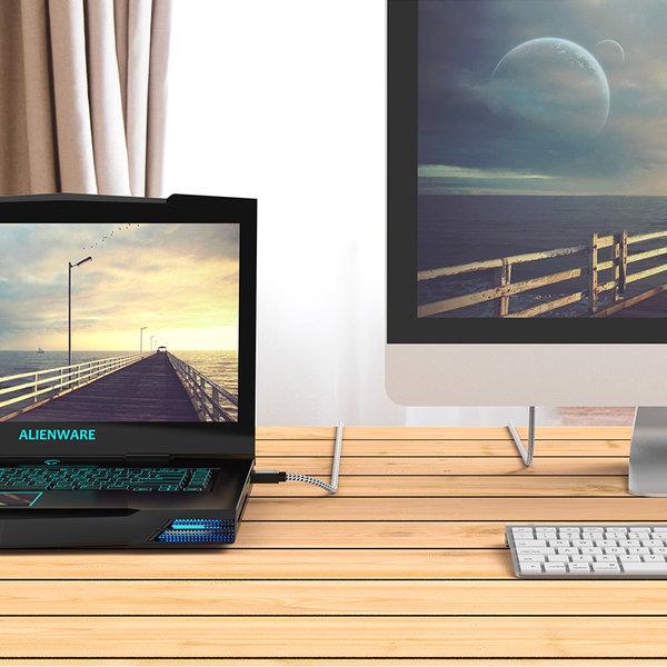 Orico HDMI 2.0-Kabel 1,5 m - 4K bei 60 Hz - Nylon geflochten