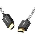 Orico Câble HDMI 2.0 2 mètres - 4K @ 60Hz - Nylon tressé