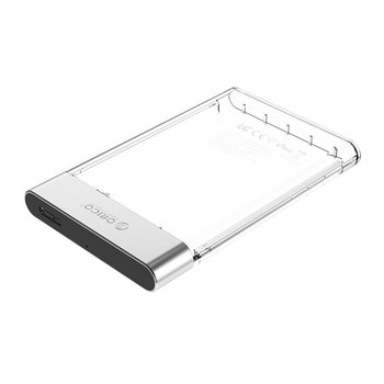 Orico Hard Disk Drive 2.5 inch transparent - plastic and aluminum