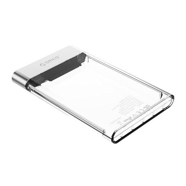 Orico Harde Schijf Behuizing 2,5 inch transparant - kunstof en aluminium
