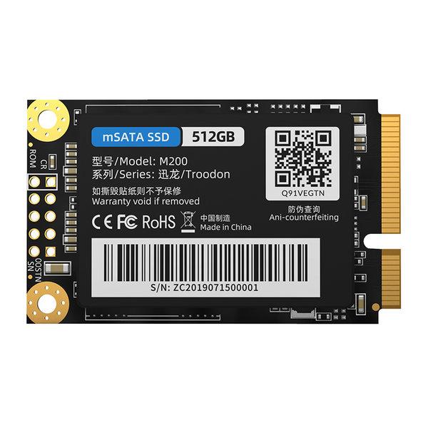 Orico SSD interne mSATA 512 Go - Série Troodon - Flash NAND 3D - Noir