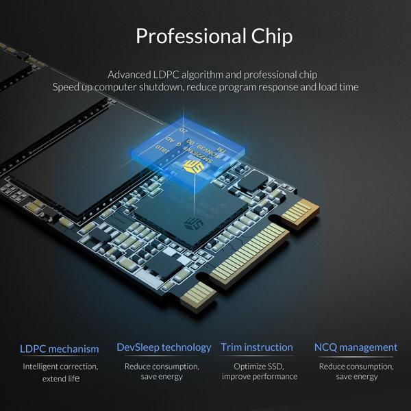 Orico M.2 internal SSD 2280 - 512GB - Troodon series - 3D NAND flash - Black