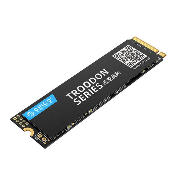 Orico SSD interne M.2 NVMe 2280 - 256 Go - Série Troodon - Flash NAND 3D - Noir