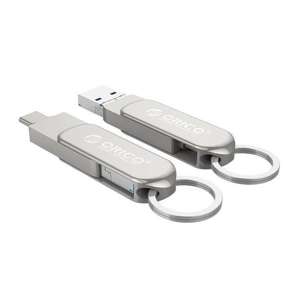 Orico 3-in-1 externe flash drive met USB-C, USB en micro-USB - 32GB