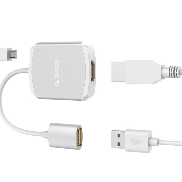 Orico Aluminum HDMI adapter for iPhone and iPad - 1080P @ 60Hz - silver