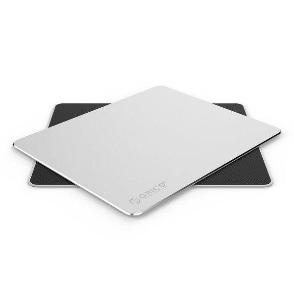 Ultrathin XXL aluminum mouse pad - 2mm thick - 30x25 cm - silver