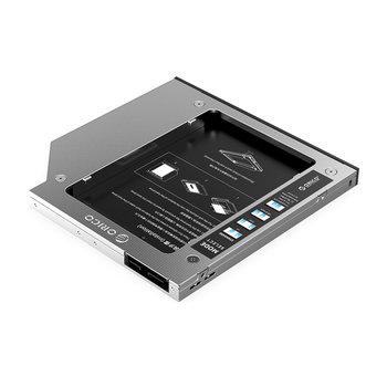Laptop caddy voor harde schijf tot 9.5mm - SATA - zilver