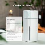 Luftbefeuchter geeignet für im Auto - Dual-Modus - LED-Beleuchtung - weiß
