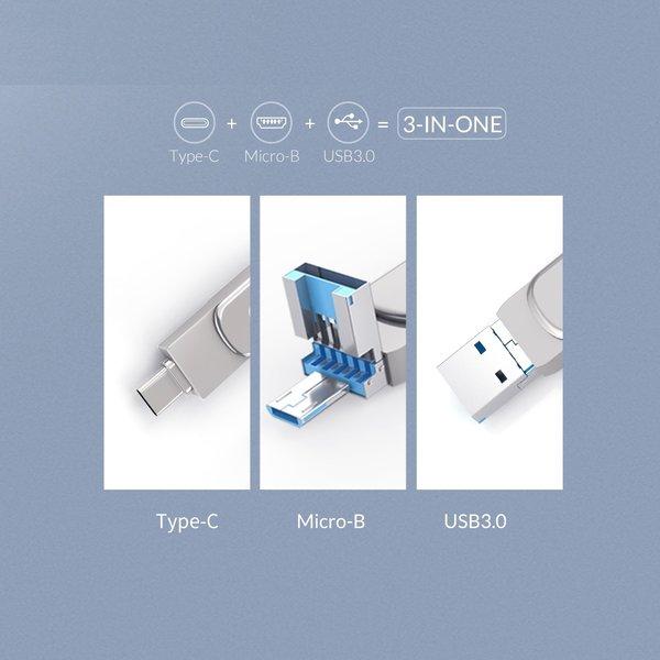 Orico USB-Stick 32 GB mit USB-C und USB A