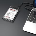 Boîtier de disque dur de 2,5 pouces - transparent / aluminium - argent