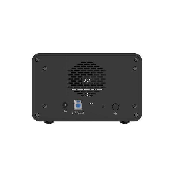 Orico 3.5 inch dual-bay external hard drive enclosure - aluminum - black