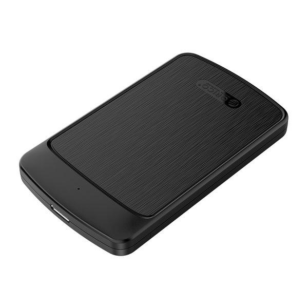 Boîtier de disque dur 2,5 pouces avec couvercle coulissant - noir brossé