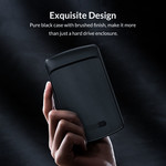 2,5-Zoll-Festplattengehäuse mit verschiebbarer Abdeckung - schwarz gebürstet