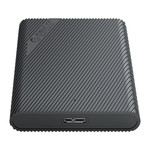 2.5 inch portable hard disk enclosure - unique design - black