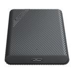 Tragbares 2,5-Zoll-Festplattengehäuse - einzigartiges Design - schwarz