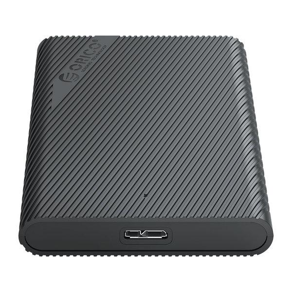 Boîtier de disque dur portable 2,5 pouces - design unique - noir