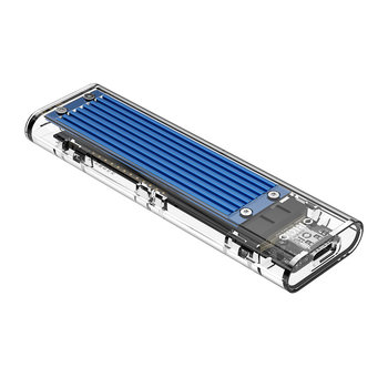 Dual protocol NVMe M.2 SSD/M.2 SSD behuizing 10Gbps - Blauw