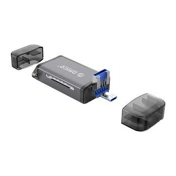 Lecteur de cartes 6 en 1 - USB 3.0 - Gris
