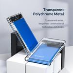 2,5 Zoll Festplattengehäuse - transparent / Aluminium - blau